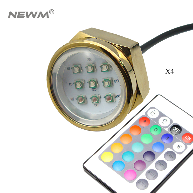 RGB color 27W Waterproof IP68 Led Marine Lamp Boat Drain Plug Light Boat Light Underwater Boat Lamp 1/2 NPT Threaded 12V/24V 10w 450 lumen waterproof rgb led underwater lamp light with remote controller dc 12v