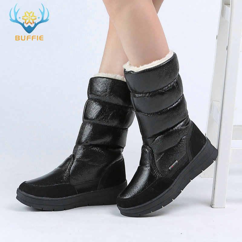 a5e895503 Черная высокая женская обувь, зимние теплые сапоги, женские зимние сапоги,  высокое качество,