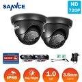 SANNCE 2PCS 1200TVL 720P TVI CCTV Cameras Indoor Outdoor IR night vision 1.0MP CCTV Surveillance Security Camera