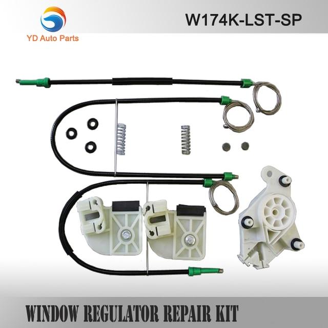 YD CAR WINDOW REGULATOR COMPLETE KIT SET For VW T5 ELECTRIC WINDOW REGULATOR REPAIR KIT FRONT-LEFT  WINDOW REGULATPR CLIP PARTS