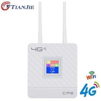 4G LTE CPE Wifi Router Broadband Unlock 4G 3G Mobile Hotspot WAN/LAN Port Dual External Antennas Gateway with Sim Card Slot 1