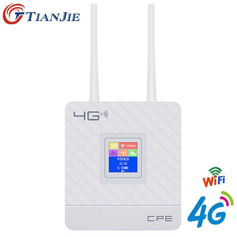 4G LTE CPE Router Wi-fi Desbloqueio 4G 3G de Banda Larga Móvel Hotspot WAN/LAN Port Dual Externo gateway de antenas com Slot Para Cartão Sim