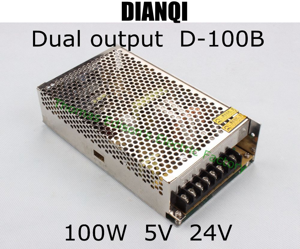 Dual Output Power Supply 100w 5v 6a 24v 3a Suply D 100b Ac Dc To Circuit Converter Good Quality In Switching From Home Improvement On