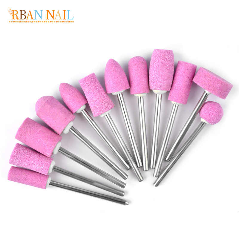 RBAN NAIL Ceramic Nail Drill Bit Manicure Machine Accessories Rotary Electric Nail Files Manicure Cutter Nail Art Tools