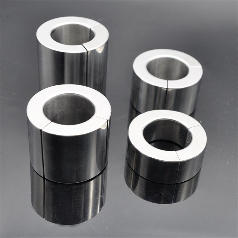 Magnetic Stainless Steel Scrotum Ring Pendant Ball Stretchers Testis Ball Heavy Penis Rings Cockring Bondage Sex Toys For Man