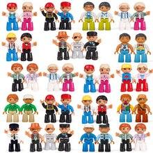 Tamanho grande Diy Quente Figuras de Ação Building Blocks Compatível Com Legoingly Duplo Tijolos Trem Brinquedos Educativos Para Crianças