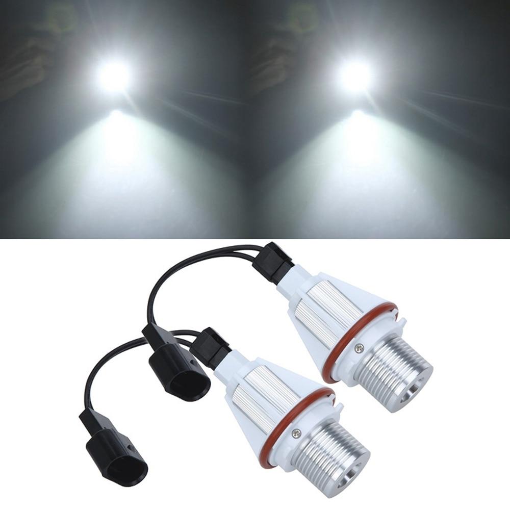 2pcs 7W White LED Angel Eye Halo Bulb Fog Light for BMW E39 E53 E60 E63 E64 E65 E66 E83 E87 Error Free