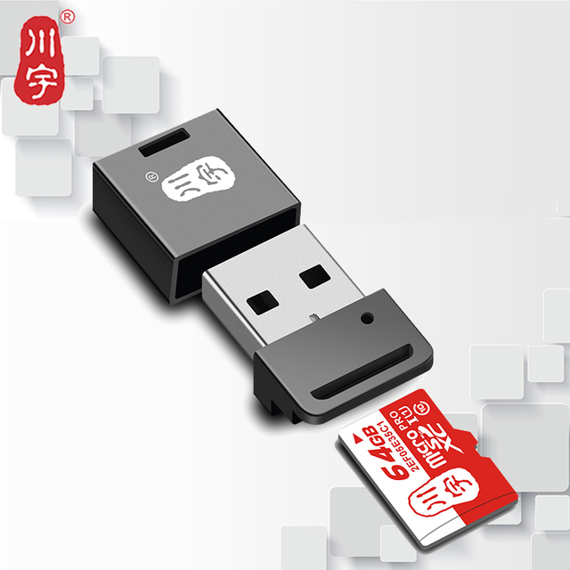Kawau 2.0 USB Mini Microsd Card Reader Card Adapter with TF Card Slot for Computer Max Support 128GB Memory Card Reader C292