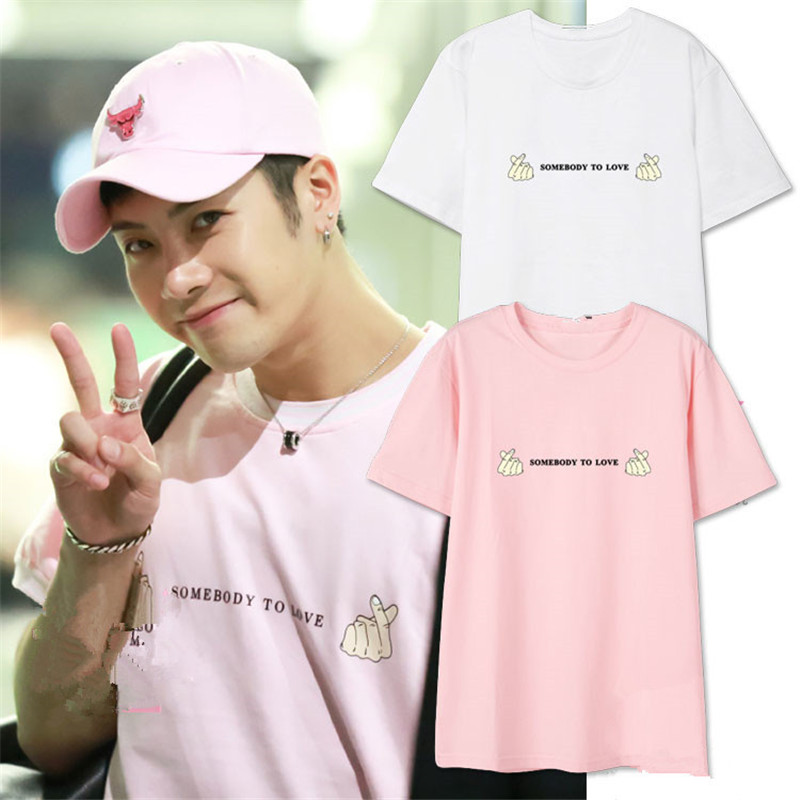 Kpop GOT7 Jackson Wang FLY Concert Same Cotton Tshirt SOMEBODY TO LOVE Short Sleeve Fashion Summer Tops