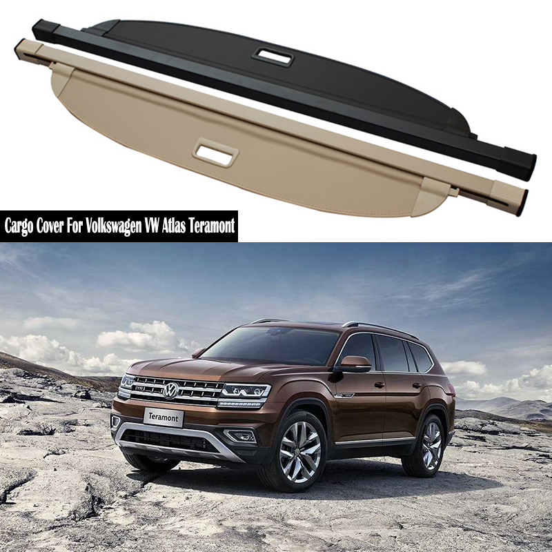 Rear Cargo Cover For Volkswagen VW Atlas Teramont 2017 2018 2019 privacy Trunk Screen Security Shield shade Accessories