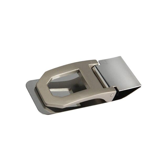 HOBBAGGO nouvelle poche mince en acier inoxydable pince à billets porte-cartes de crédit nouveau