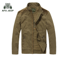 AFS JEEP Spring New Men's Solid Jackets Casual Men's Thin Jackets Solid Slim Male Coats Brand Clothing Plus size M-4XL 128z