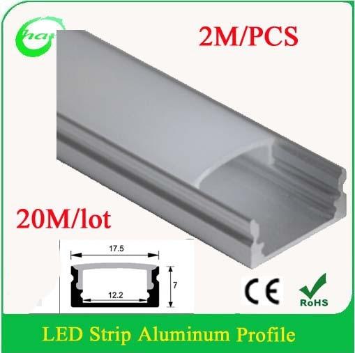 buy 20m lot profile led aluminium extrusion for floor 2m pcs led strip. Black Bedroom Furniture Sets. Home Design Ideas