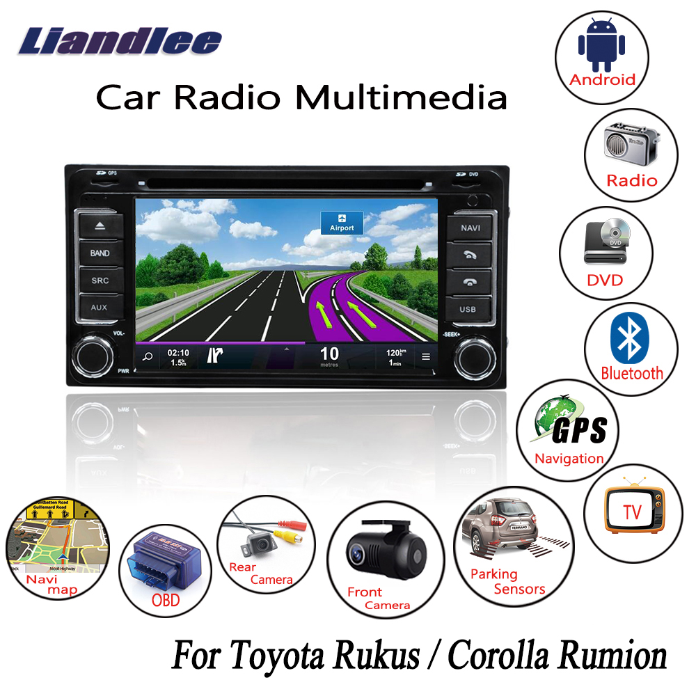 Liandlee For Toyota Rukus / Corolla Rumion 2007~2013 Android Car Radio DVD Player GPS Navi Maps Camera OBD TV