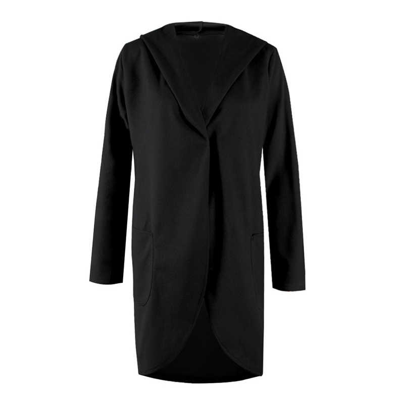 Frauen Herbst Winter Woolen Mit Kapuze Dünne Mantel Lose Damen Beiläufige Hoodies Jacke Mantel SSA-19ING