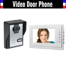 [ Special Offer ] 7″ Monitor Video Door Phone Intercom System Wired Video Doorbell kit for Home Villa