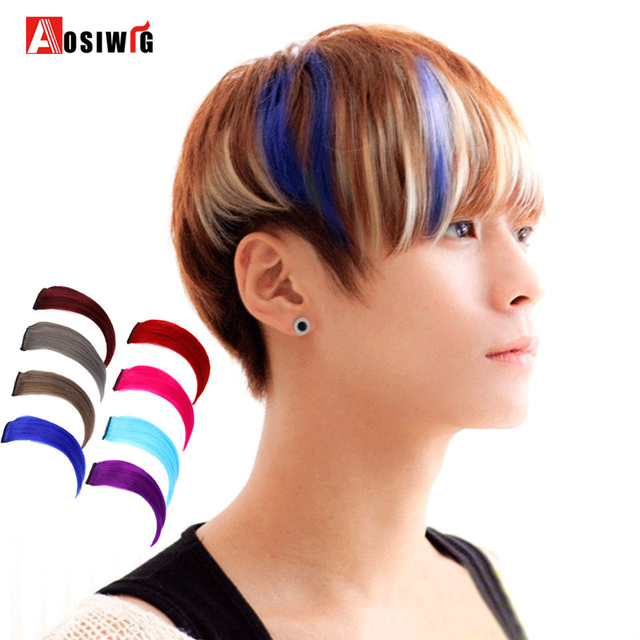 Short Straight Clip On 1 Piece 1 Clip In Synthetic Hair Extensions 8