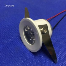 10pcs/lot bridgelux 31mm cut size 25mm Led Cabinet mini Spot light  1W Include Driver AC85-265V 30mm*30mm Mini downlight