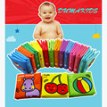 2016 12Pieces/A Lot Baby Toy Baby Rattle Teether Infant Cloth Book Toys 0-12 Months Early Learning & Education Animal Books Soft