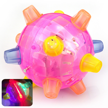 LED Jumping Joggle Sound Sensitive Vibrating Powered  Kids Flashing Ball Toy Flash New Strange Music Dancing