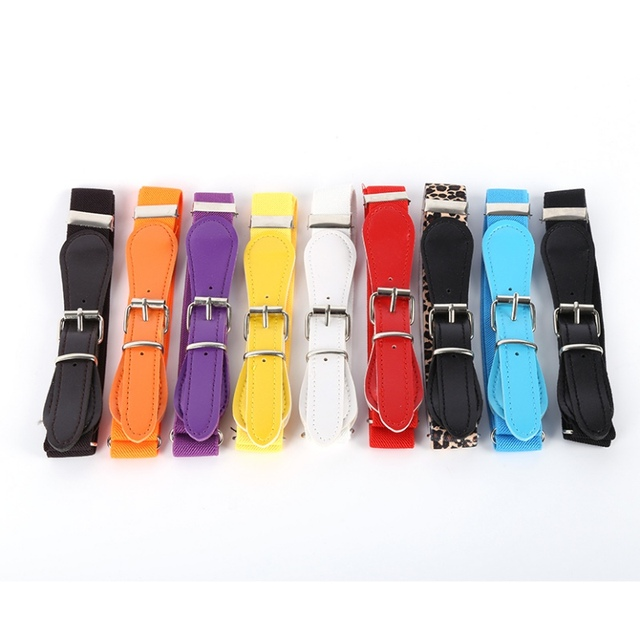 Colorful Elastic Waist Polyester Belt for Kids 1