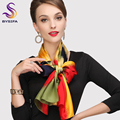 Chinese Silk Scarves New Arrival Ladies Gradient Long Scarves Wraps 175*52cm Yellow Green Red Pure Silk Brand Scarf Muslims