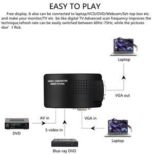 Image 4 - Adaptador av para vga, caixa de interruptor, adaptador de pc laptop, composto, vídeo av s video rca para pc, laptop, vga tv conversor