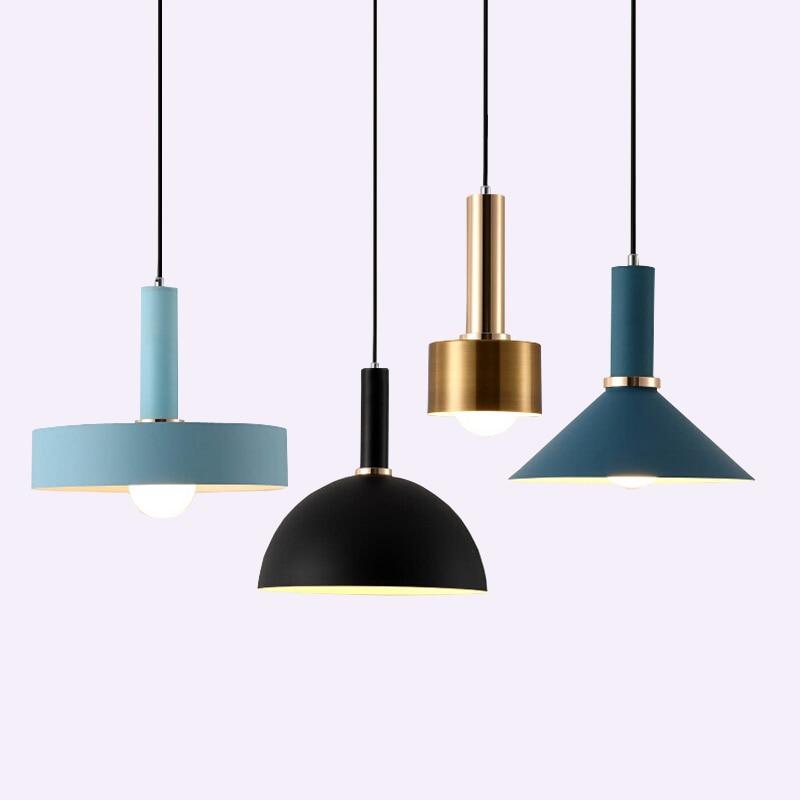 Nordic simple Pendant lights Modern bedroom bedside dining room Pendant lamp Bar/cafe individual creative lighting fixtures
