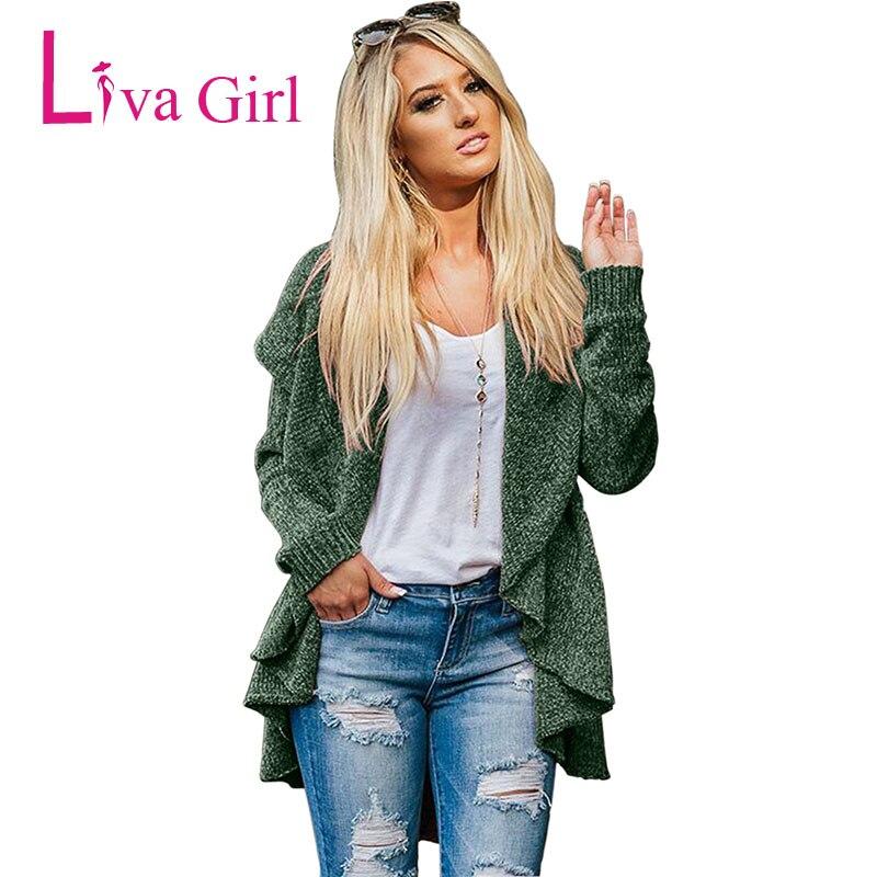 LIVA fille hiver veste décontractée Cardigans tricotés femmes automne à manches longues Chenille noir chandails bref drapé Sueter Mujer XXL - 5