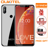 OUKITEL C13 Pro 5G/2.4G WIFI 6.18 19:9 Android 9.0 MT6739 3000mAh 4G LTE 2GB RAM 16GB ROM 8MP+5MP Fingerprint Mobile Phone ID