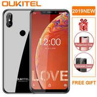 """OUKITEL C13 Pro 5G/2.4G WIFI 6.18 """"19:9 Android 9.0 MT6739 3000mAh 4G LTE 2GB pamięci RAM, 16GB pamięci ROM 8MP + 5MP linii papilarnych telefon komórkowy ID"""