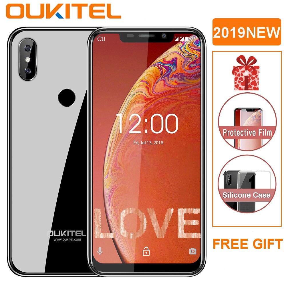 OUKITEL C13 Pro 5G/2.4G WIFI 6.18 19:9 Android 9.0 MT6739 3000mAh 4G LTE 2GB RAM 16GB ROM 8MP + 5MP identification de téléphone portable d'empreintes digitales