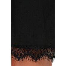 Fantaist Women Summer Elegant Cocktail Party Night Club Sleeveless Halter Neck Little Black Casual Loose Mini Lace Shift Dress