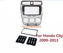 2 Din Quadro Fascia Carro/Áudio Do Painel Frame/Carro Kit Traço para Honda City 2009 2010 2011 2012 2013 Varejo/Pcs Frete Grátis
