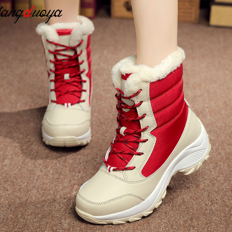 dafd62b112 warm snow boots women winter boots platform shoes women sneakers waterproof  ankle boots para mulheres botines mujer 2018