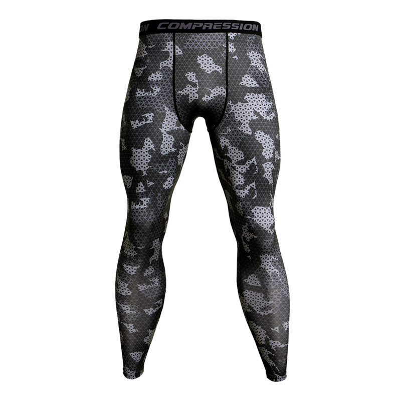 2019 NEW Compression Tights Pants Men Gyms Fitness Sporty Leggings Male Joggers Skinny Trousers MMA Male Sportswear Bottoms