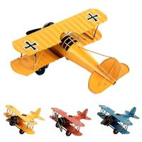 1pc Home Decor Vintage Model Metal Plane Model Aircraft Glider Biplane Airplane Model Figurines Children Gift