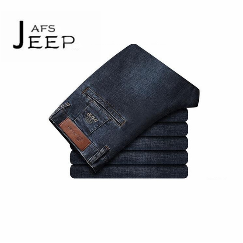 AFS JEEP Water washed blue autumn Male Cotton Back pocket mans Cargo jeans,Mid Waist intemperie full length elasticidad jeans afs jeep chariot 2016 autumn man s denim cotton jeans back pockets fashion man s leisure mid waist jeans fall cow boy s jeans