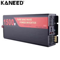 KANEED Car Power Inverter Pure Sine Wave 1500W DC 24V 220V Car Power Converter Power Socket