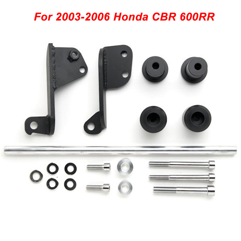 No Cut Frame Slider For 2003-2006 Honda CBR 600RR CBR600RR 600 RR 2003 2004 2005 2006 Crash Falling Protection Motorcycle part engine slider protectors for honda cb1300 2003 2004 2005 2006 2007 2008 anti crash pads falling protection protective cb 1300