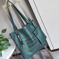 Woman Female Fashion Tote Bag PU Leather Brief Shoulder Bag Handbag For Girl Large Capaticy With Small Purse Wallet Hot Sale