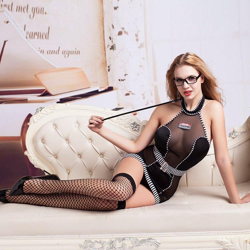 Sexy Teacher Role Play Dress Erotic Halloween Costumes Women Sexy Lingerie Erotic Seductive School Teacher Cosplay Costumes