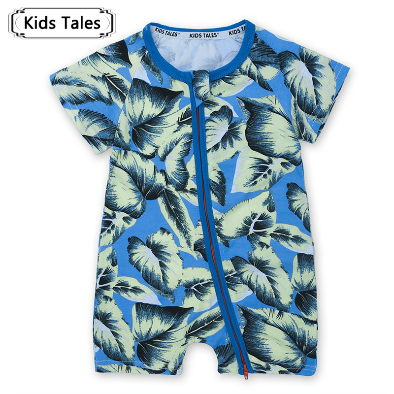 2018 Newborn Rompers Baby Clothes Summer Baby Jumpsuit with Short Sleeve One-piece Jumpsuit Baby Boy Girl Clothes SR285