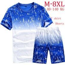 2016 neue t-shirts + Shorts Sommer trainingsanzüge Set für herren TRAININGSANZUG M-6XL 7XL 8XL MAX: BRUST 137 CM HÜFTEN 148 CM