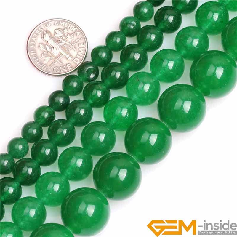 PCS pierres précieuses À faire soi-même Fabrication De Bijoux Artisanat Ligne Quartz Perles Rondes 10 mm VERT 32