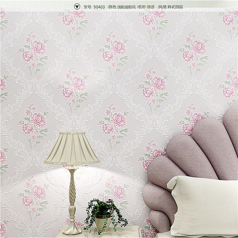 beibehang High-end pastoral style non-woven wallpaper bedroom 3d wallpaper living room bedroom hotel wallpaper papel de paredebeibehang High-end pastoral style non-woven wallpaper bedroom 3d wallpaper living room bedroom hotel wallpaper papel de parede