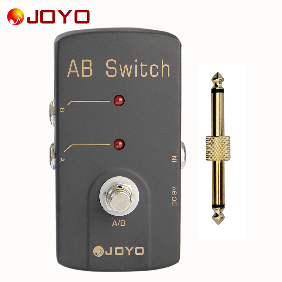 JOYO JF-30 True Bypass Design Effect Pedal for Guitar A/B Switch + 1 pc Guitar Pedal Connector Guitar Accessories aroma adr 3 dumbler amp simulator guitar effect pedal mini single pedals with true bypass aluminium alloy guitar accessories