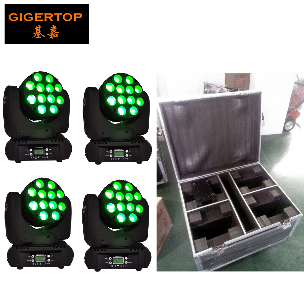 Chinese Stage Effect Light 4pcs/lot 12x12W RGBW 4IN1 LED Moving Head BEAM LED Moving Head Light Master-Slave/Auto/Custom/ SoundChinese Stage Effect Light 4pcs/lot 12x12W RGBW 4IN1 LED Moving Head BEAM LED Moving Head Light Master-Slave/Auto/Custom/ Sound