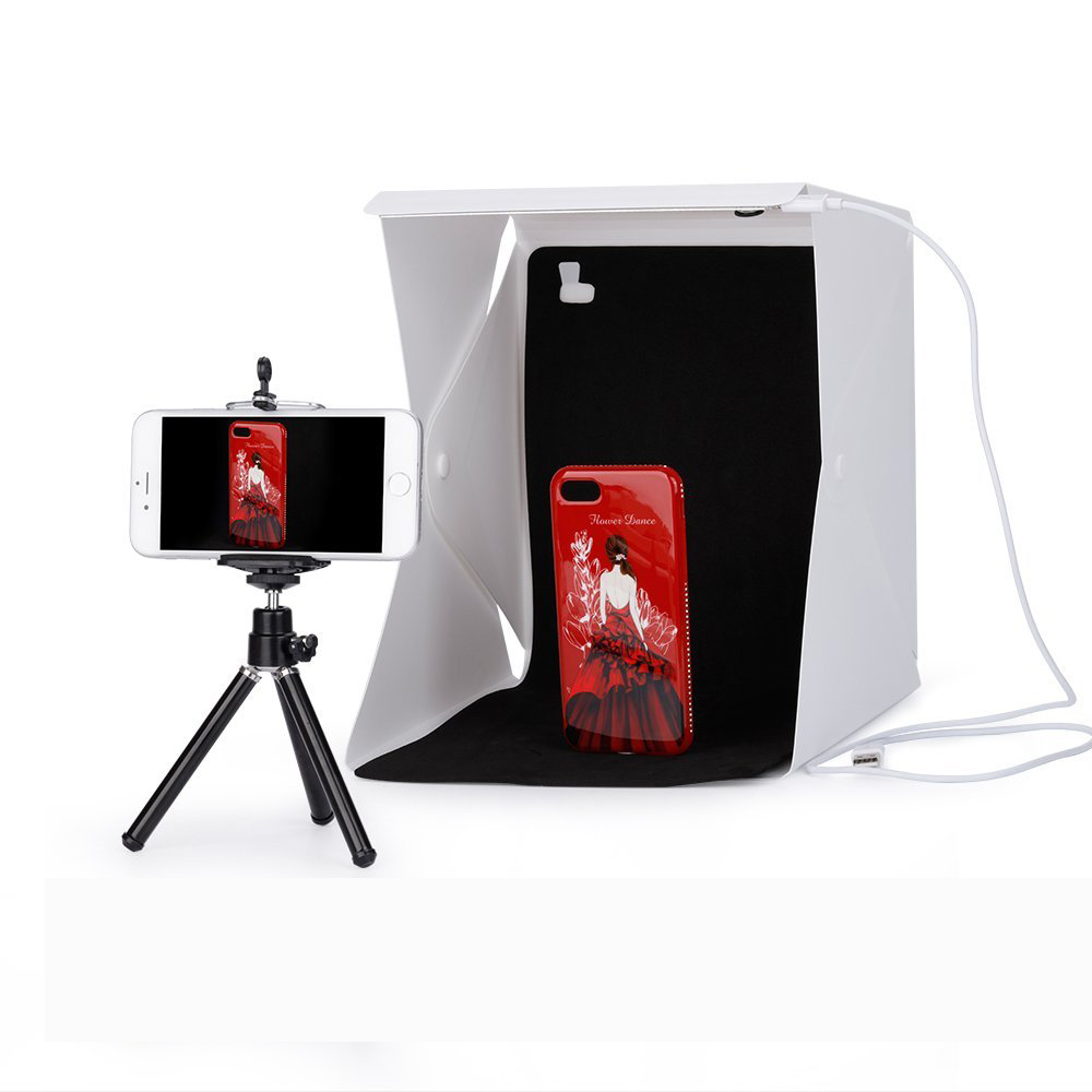 40 x 40 x 40cm Photo Studio Box Photography Backdrop Built in Light Photo Box big
