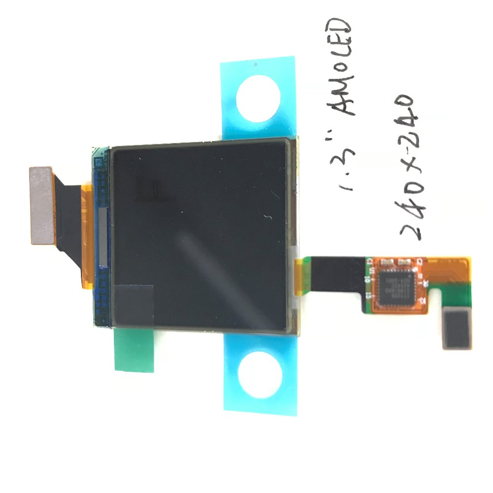 1 3inch AMOLED OLED with On cell Touch Display module 240x240 SPI display for smart watch devices H130BLK01 in Touch Screen Panels from Computer Office